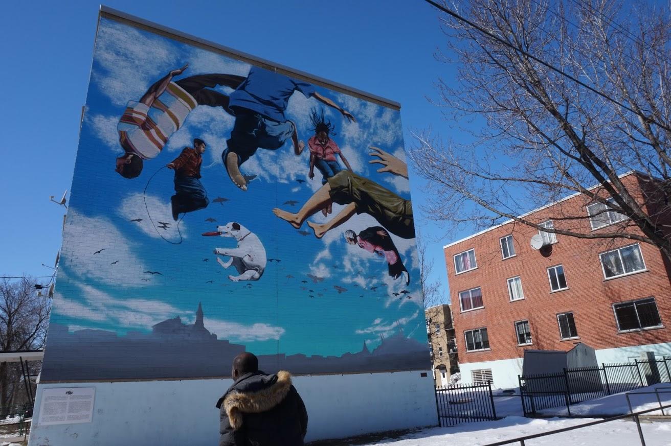 Murale située au 4201, boulevard Robert
